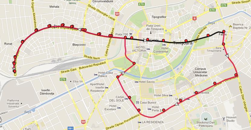 Rute între staţii pe linia 5 93f7b305ae0